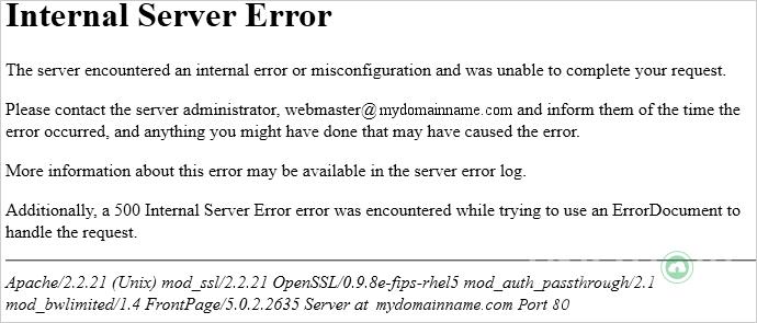 Lỗi Inter Server Error Ẽ