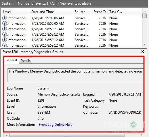 Hướng dẫn sử dụng phần mềm Test RAM Server 13