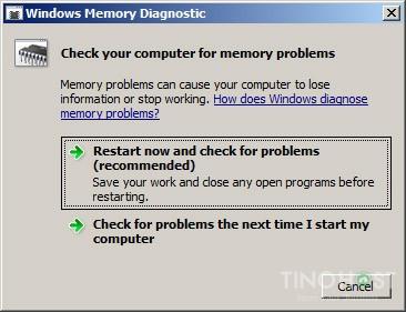 Hướng dẫn sử dụng phần mềm Test RAM Server 9