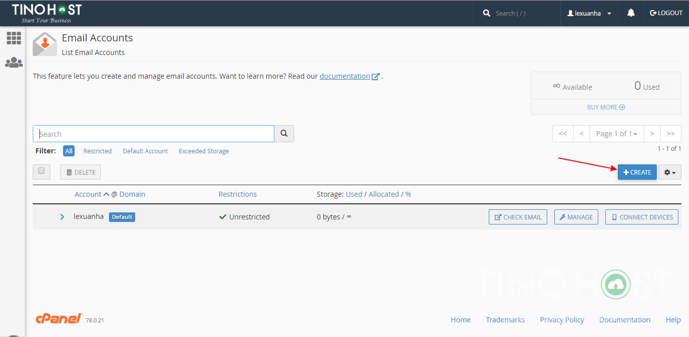 Tạo và quản lý Email Server theo tên miền. 15