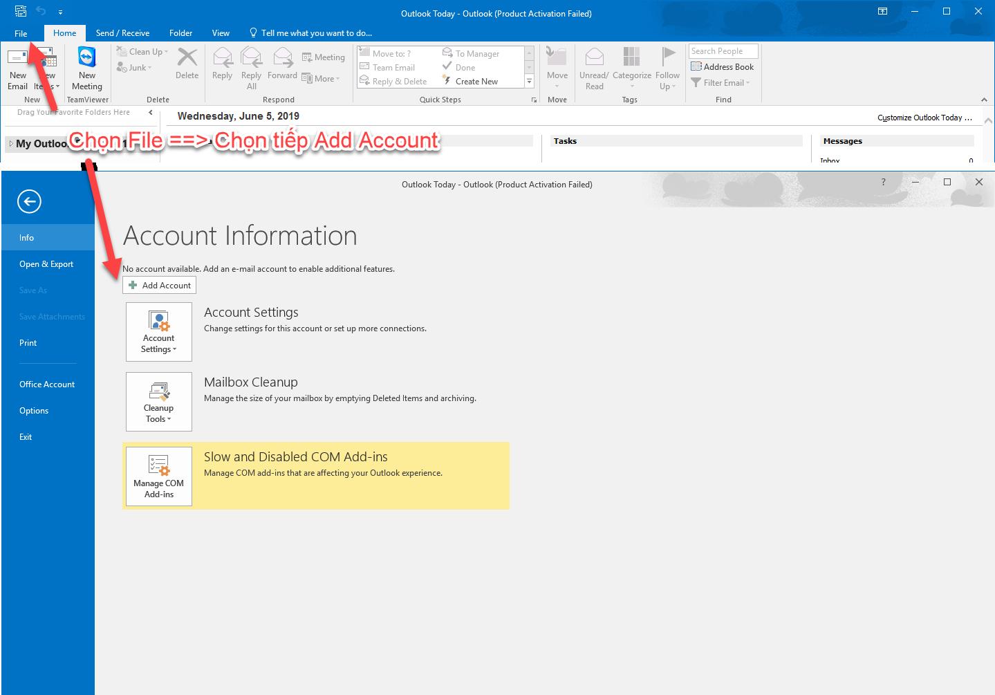Hướng dẫn thiết lập tài khoản Mail lên Outlook 11