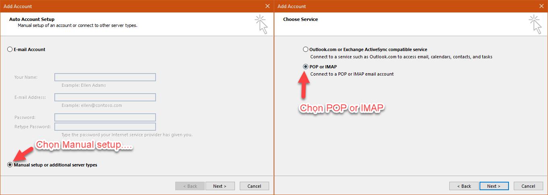 Hướng dẫn thiết lập tài khoản Mail lên Outlook 12