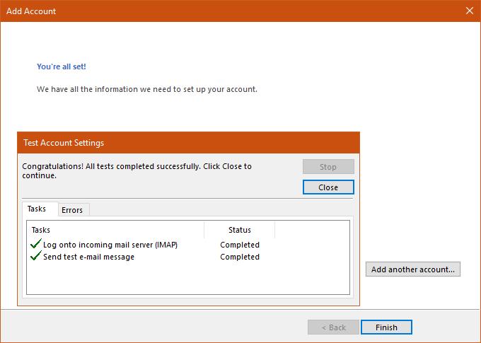 Hướng dẫn thiết lập tài khoản Mail lên Outlook 14