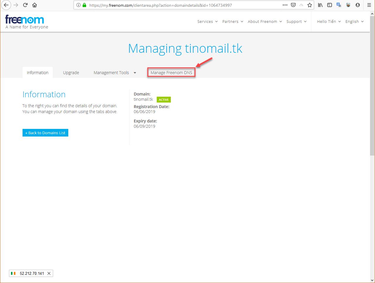 Hướng dẫn cấu hình bản ghi (record) cho tên miền sử để sử dụng Email Hosting 13