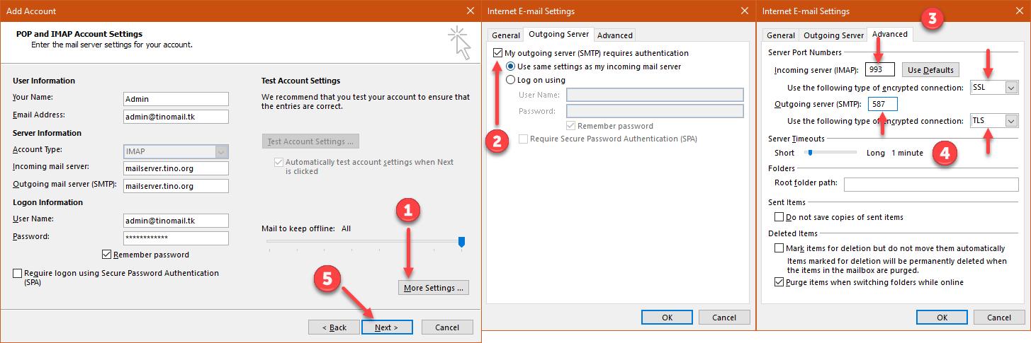 Hướng dẫn thiết lập tài khoản Mail lên Outlook 13
