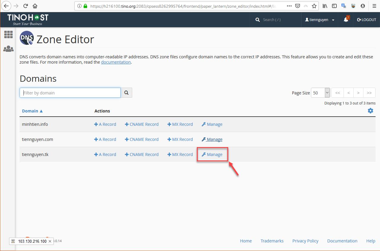 [cPanel] - Hướng dẫn cấu hình DNS cho tên miền dùng Nameservers Hosting cPanel 9