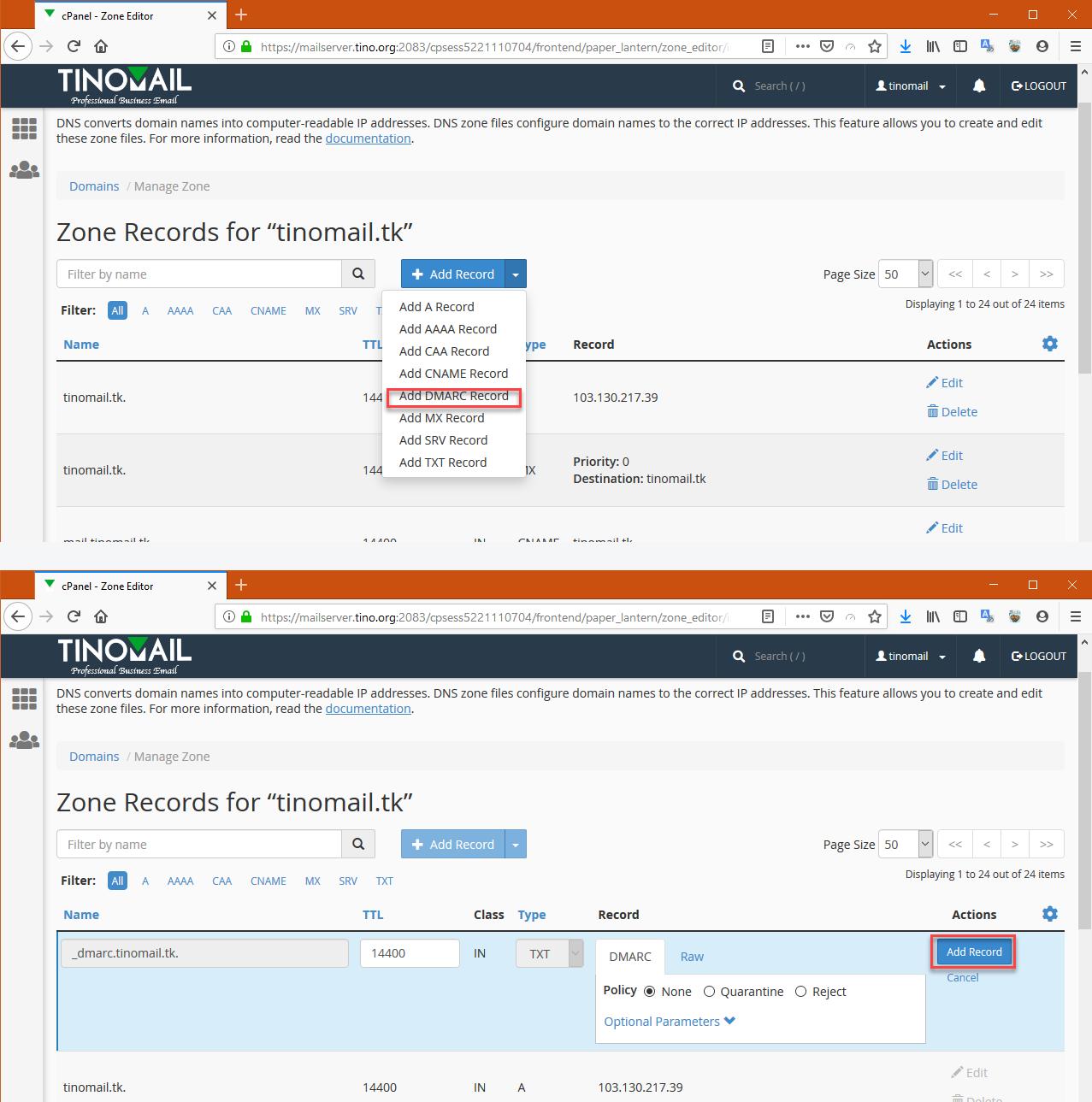 Hướng dẫn cấu hình bản ghi (record) cho tên miền sử để sử dụng Email Hosting 11