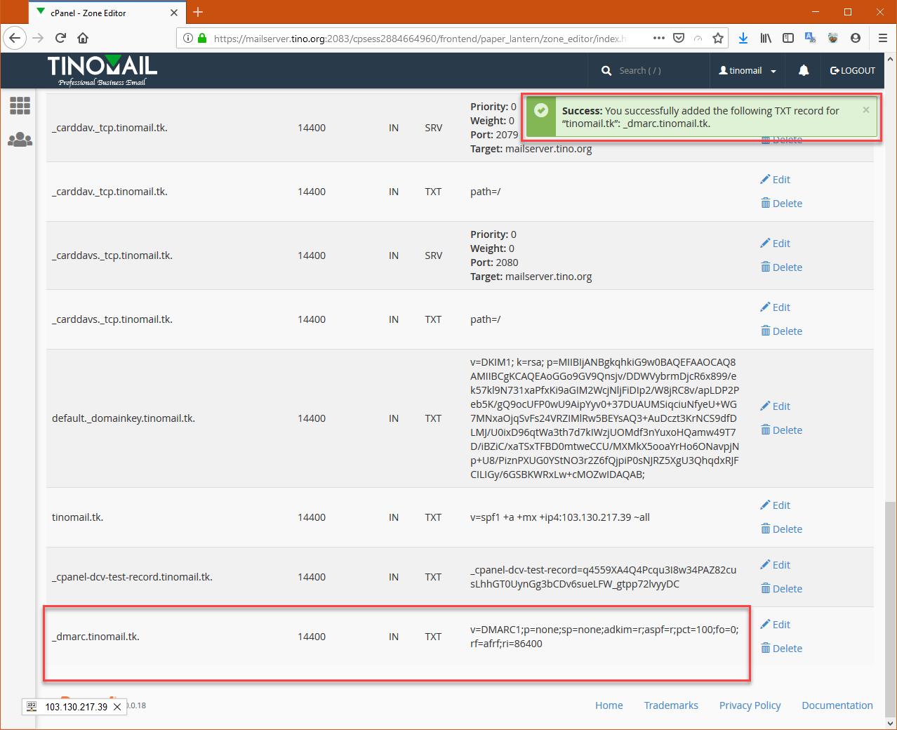 Hướng dẫn cấu hình bản ghi (record) cho tên miền sử để sử dụng Email Hosting 12