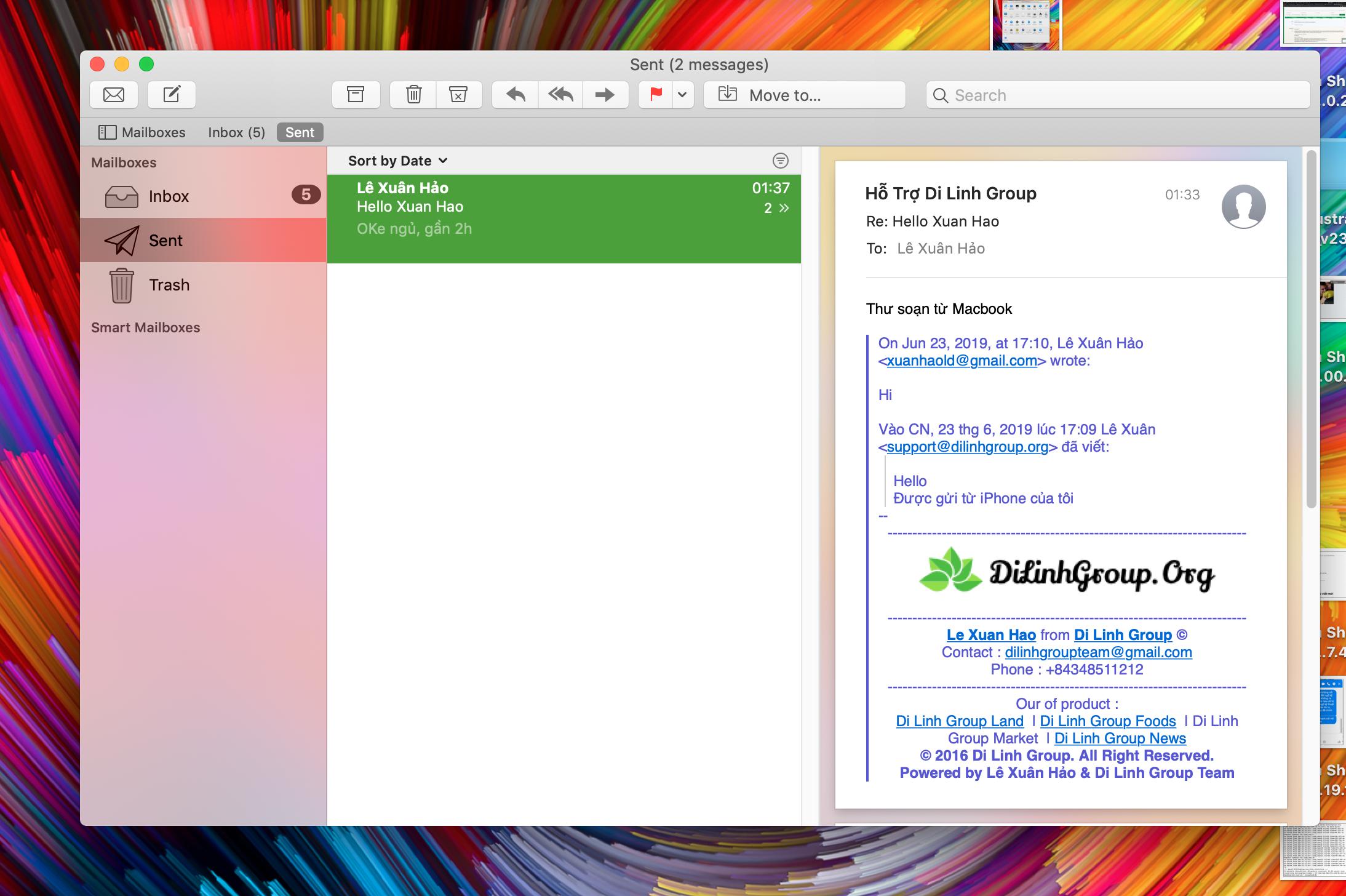 Hướng dẫn cấu hình Email doanh nghiệp trên phần mềm Email của MacOS 7