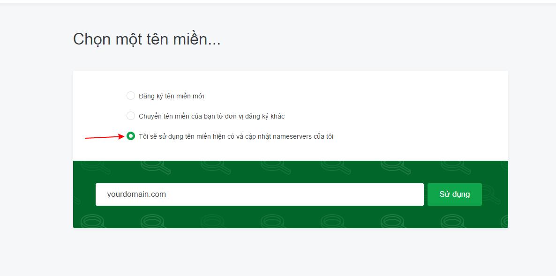 Tên miền của mình hiện tại đang quản lý tại nhà cung cấp dịch vụ tên miền khác, mình muốn sử dụng Hosting tại TinoHost thì khi đăng ký dịch vụ chọn như nào ? 4