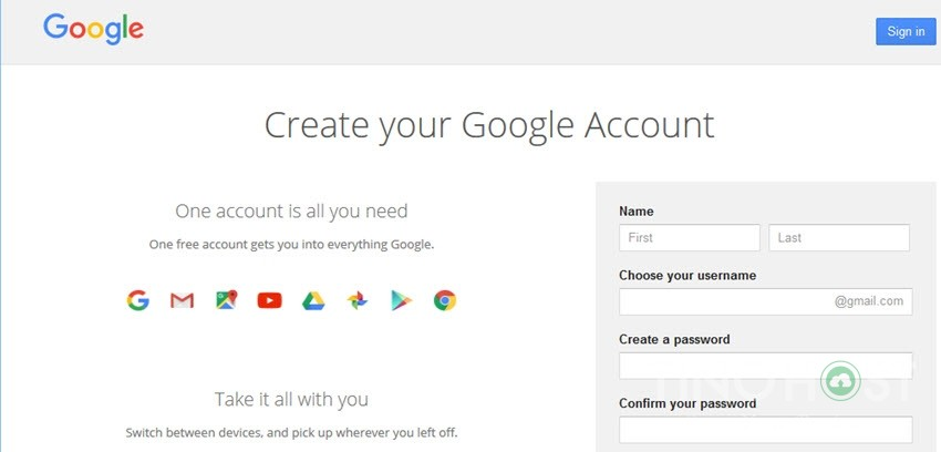 Giao diện Gmail
