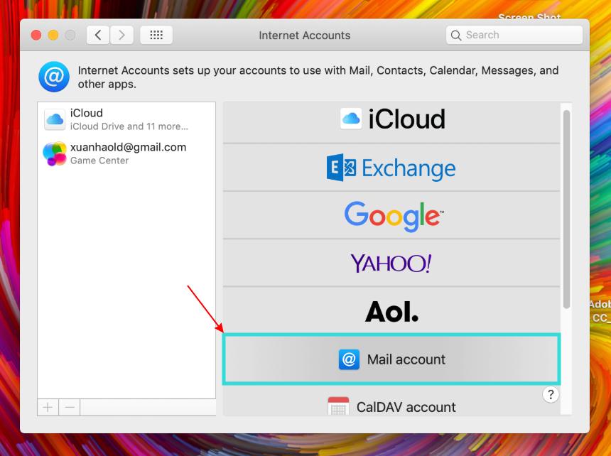 Hướng dẫn cấu hình Email doanh nghiệp trên phần mềm Email của MacOS 11