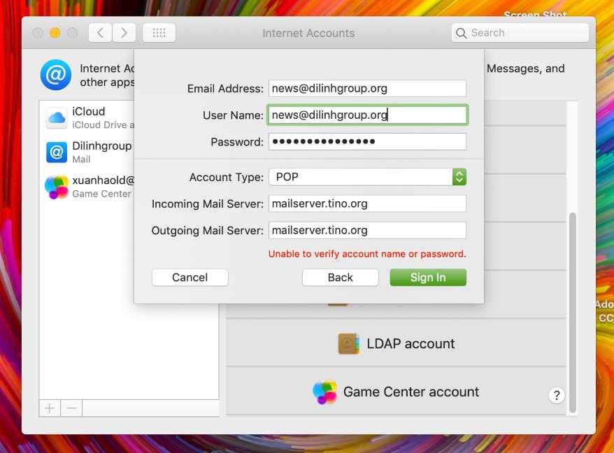 Hướng dẫn cấu hình Email doanh nghiệp trên phần mềm Email của MacOS 12