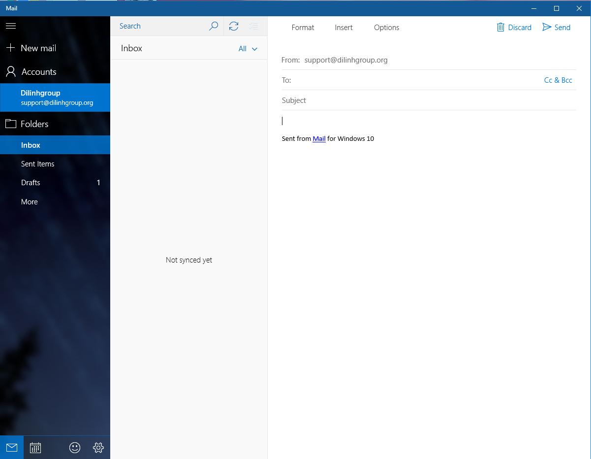 Hướng dẫn cấu hình Email doanh nghiệp trên phần mềm email Email trên Windows 10 23