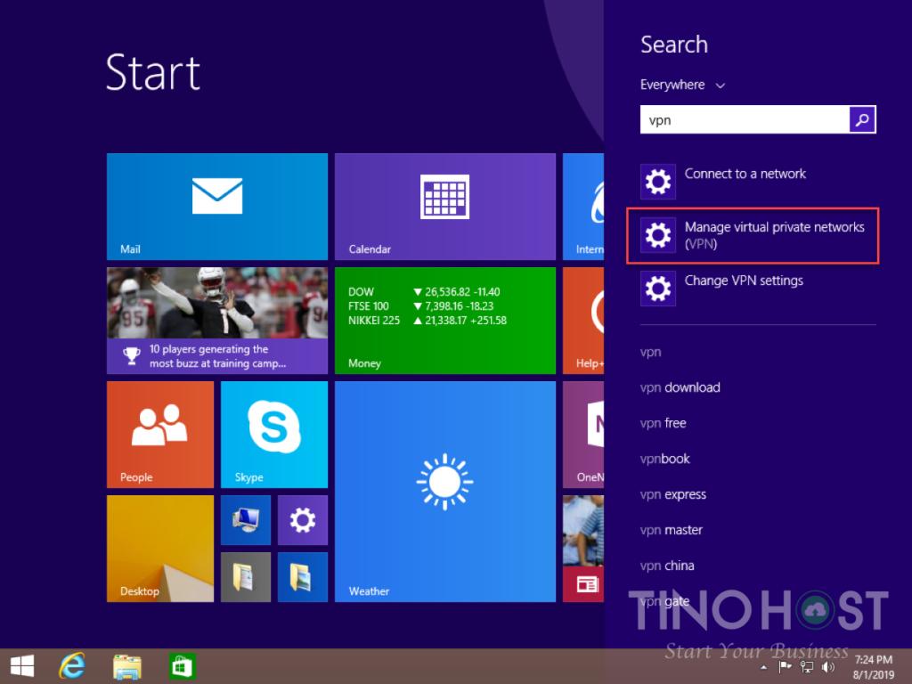 Hướng dẫn tạo kết nối VPN trên máy tính Windows 7, 8, 10 24