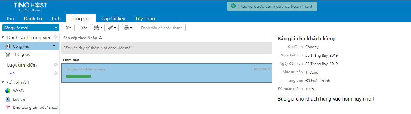 [Zimbra] Hướng dẫn tạo thông tin công việc cần thực hiện trên trình quản lý Email. 7