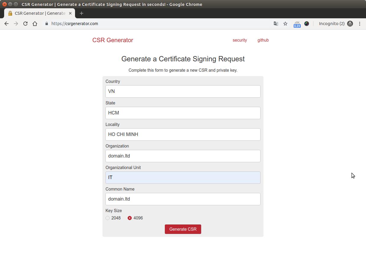Hướng dẫn tạo CSR(Certificate Signing Request) 3