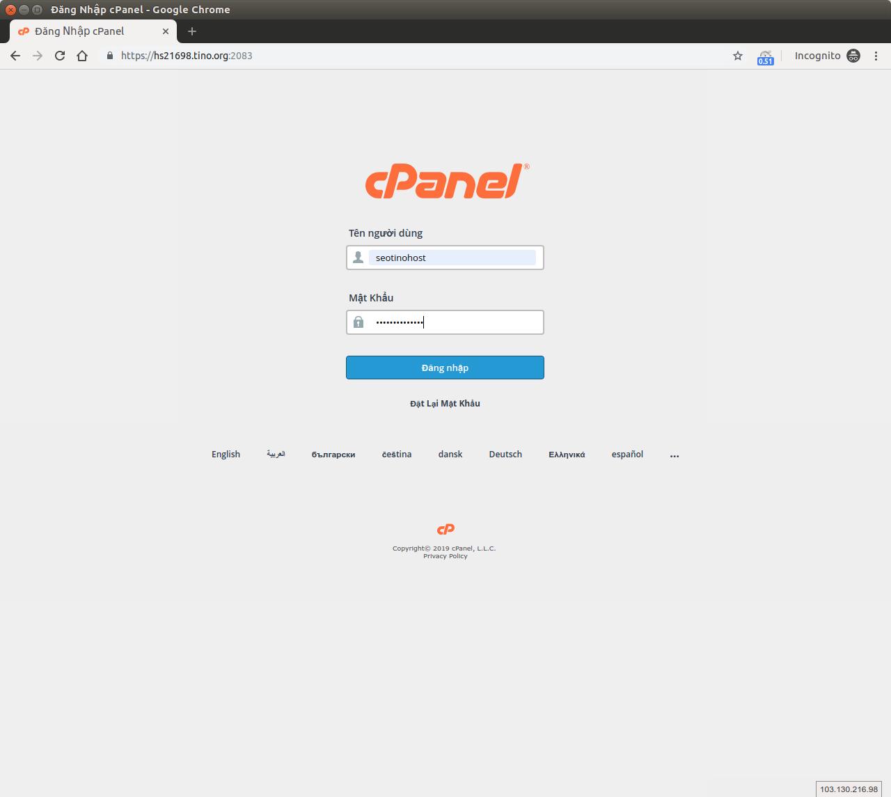Hướng dẫn đăng nhập SEO hosting và gán IP cho các domain(tên miền). 6