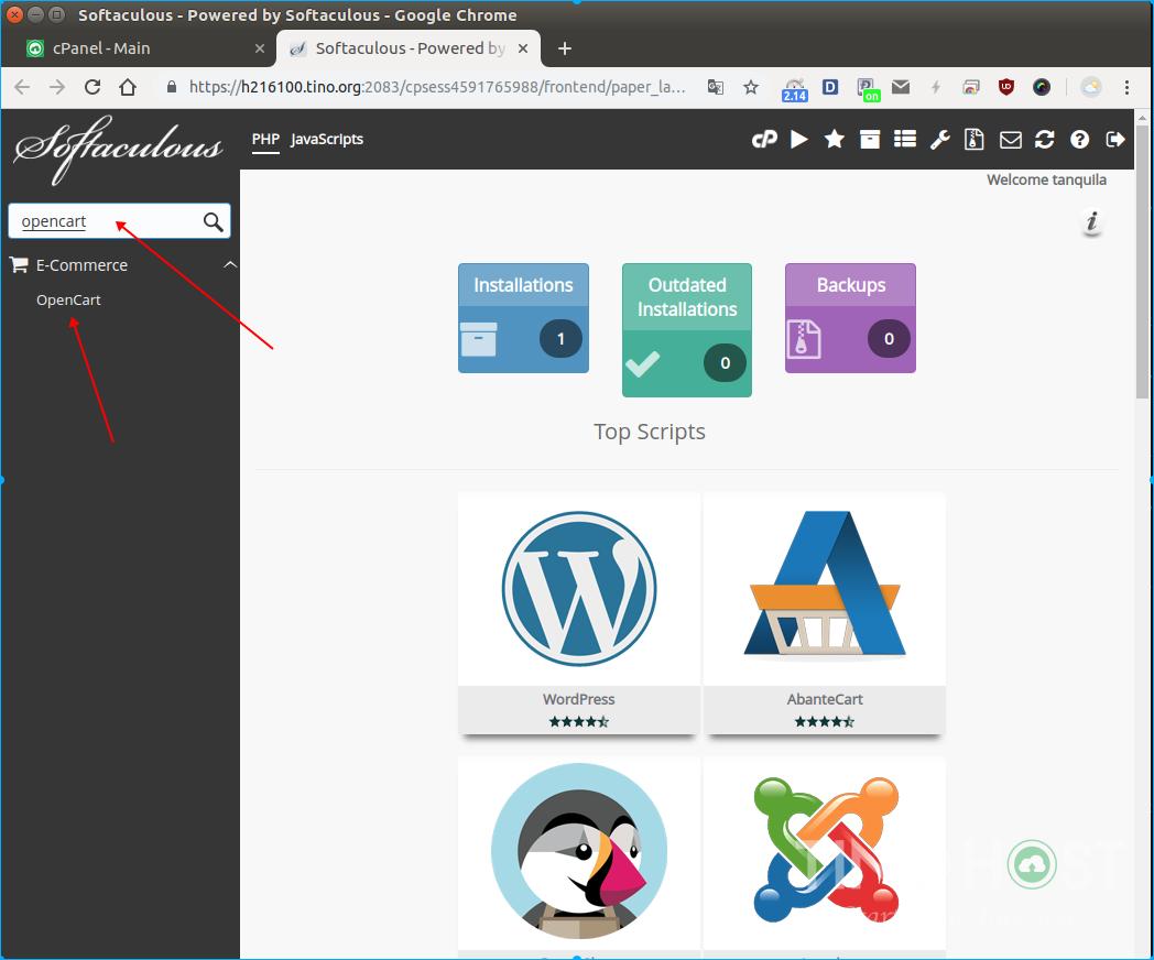 Hướng dẫn cài đặt OpenCart trên hosting cPanel 9