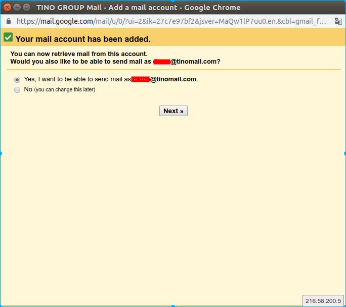 Hướng dẫn thêm tài khoản email domain vào webmail của Gmail. 15