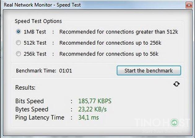 Phần mềm kiểm tra tốc độ mạng Real Network Monitor