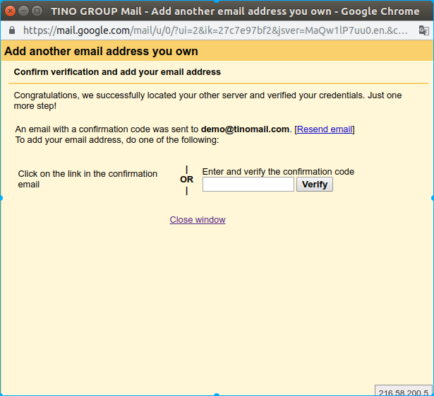 Hướng dẫn thêm tài khoản email domain vào webmail của Gmail. 17