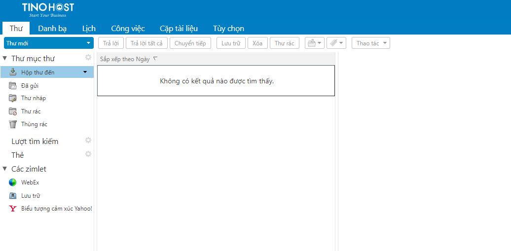 [Zimbra] Hướng dẫn đăng nhập hệ thống mail trên TinoHost và chuyển đổi ngôn ngữ Tiếng Việt 9