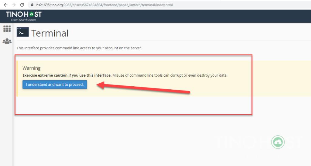 Hướng dẫn SSH trên Share Cloud Hosting sử dụng Terminal 4