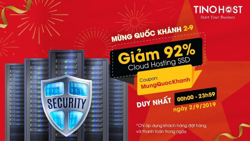 Giảm 92% dịch vụ Cloud Hosting SSD.