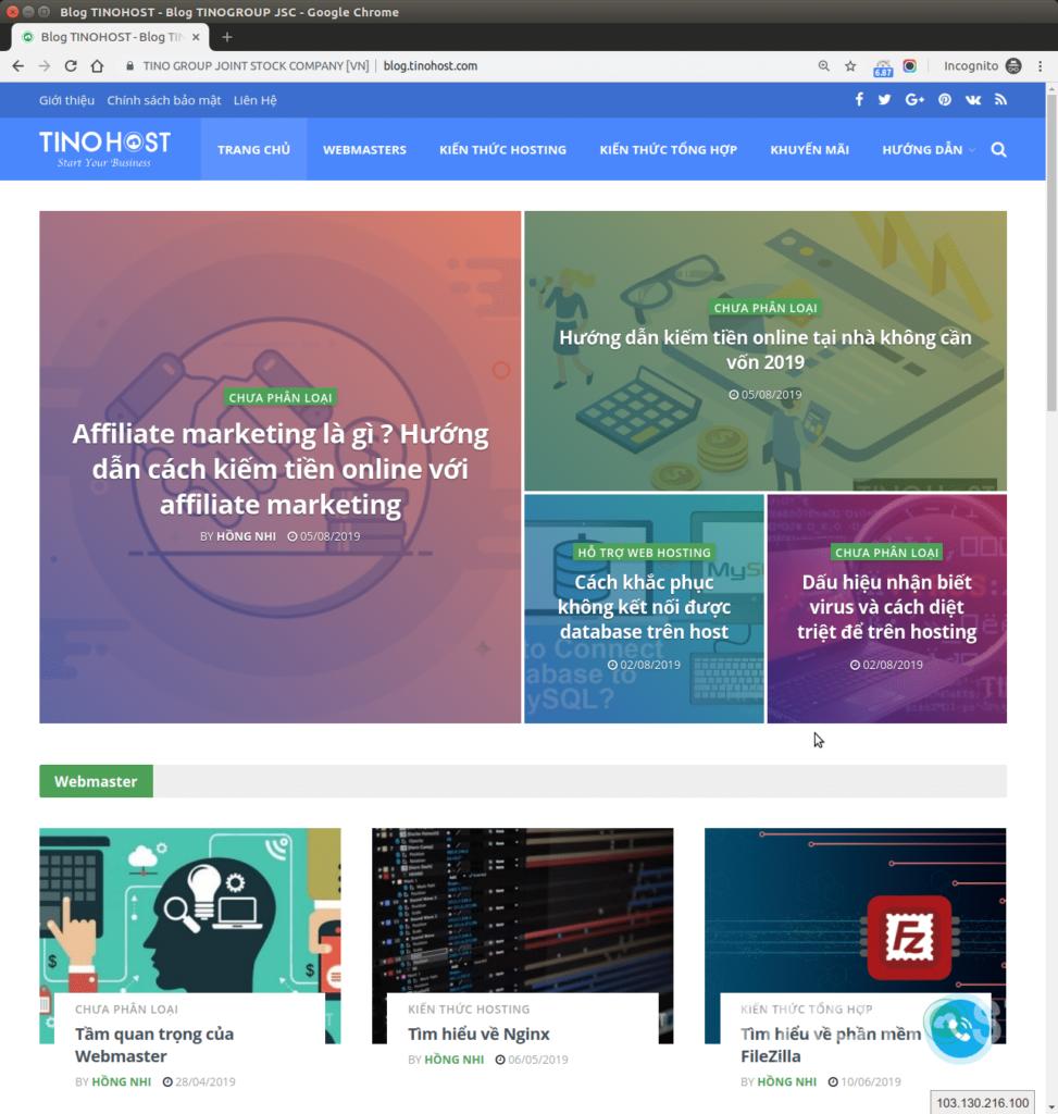 Trang Blog TinoHost