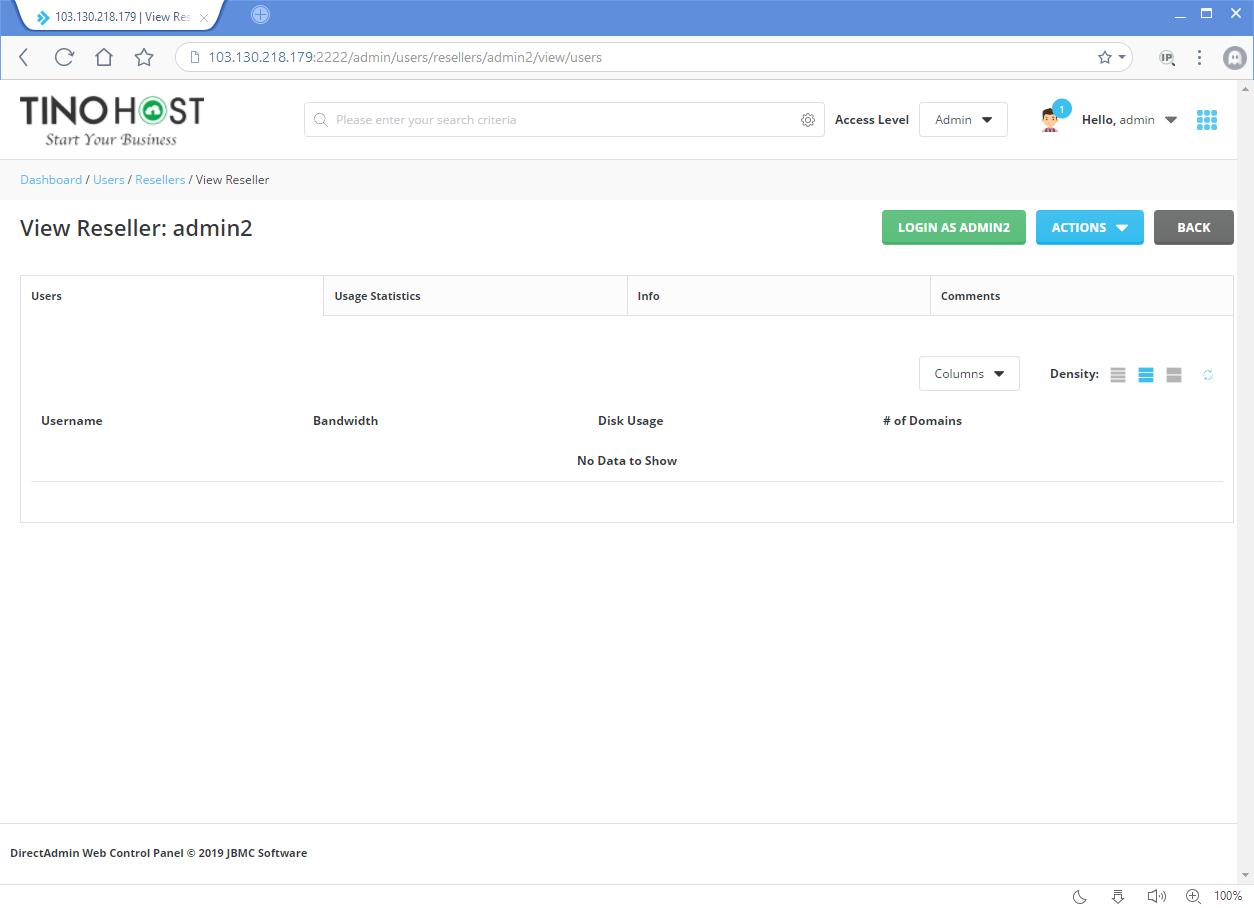 Hướng dẫn tạo tài khoản Admin trên Direct Admin 15