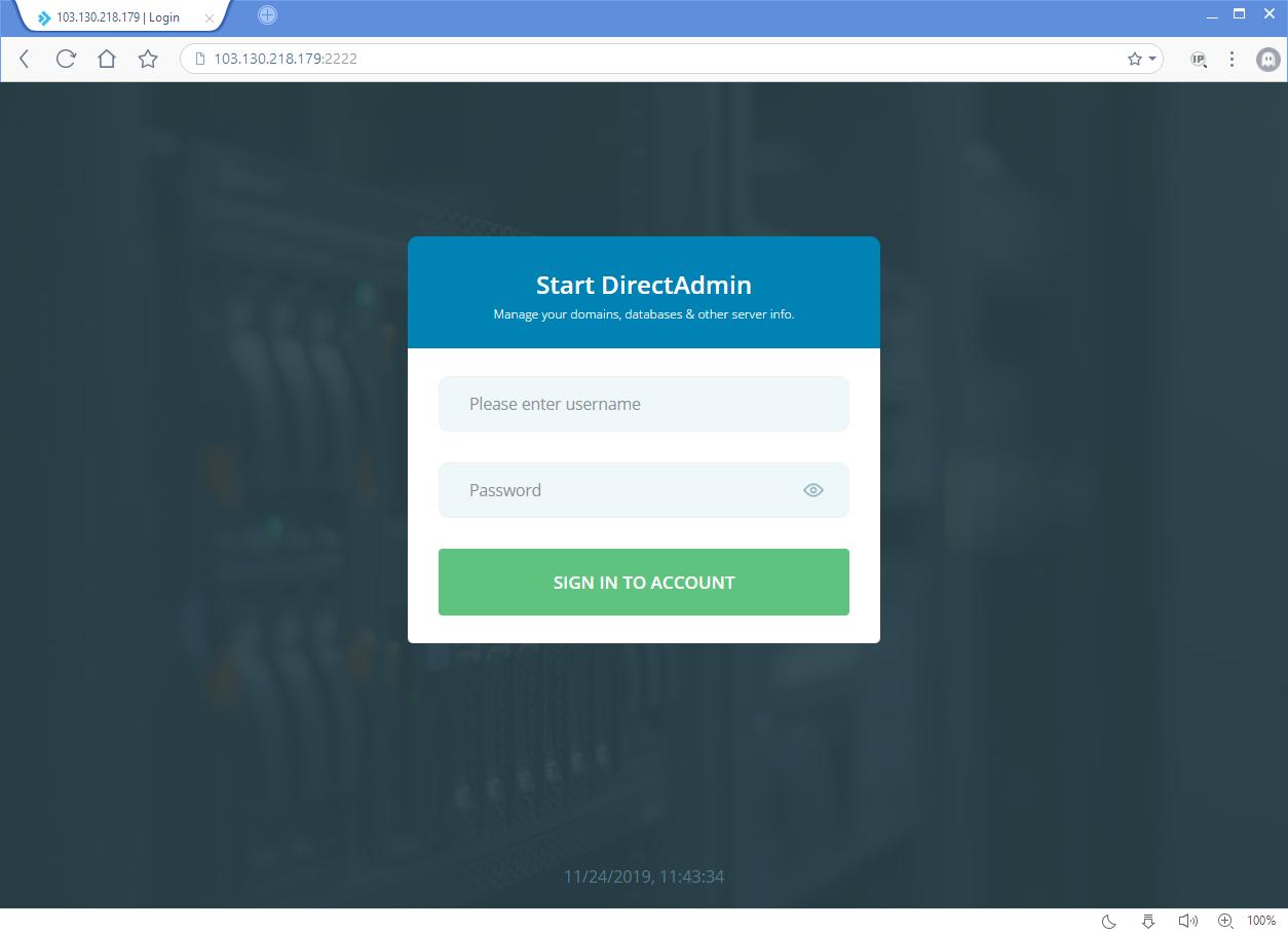 Hướng dẫn tạo tài khoản Admin trên Direct Admin 9
