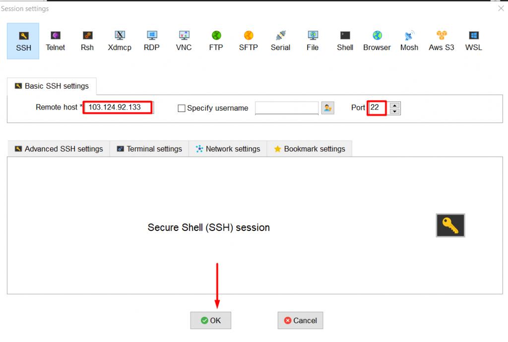 Hướng dẫn sử dụng MobaXterm để SSH vào server linux 19