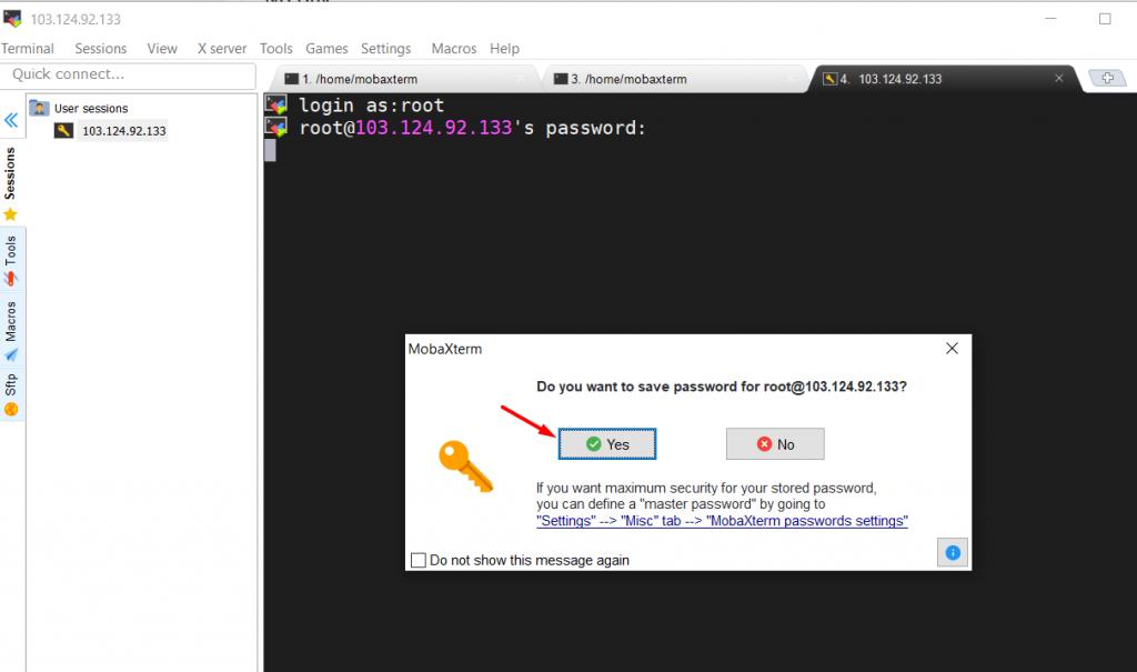 Hướng dẫn sử dụng MobaXterm để SSH vào server linux 21
