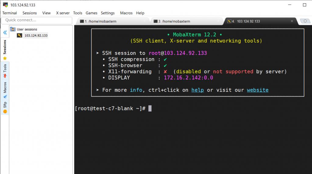 Hướng dẫn sử dụng MobaXterm để SSH vào server linux 22