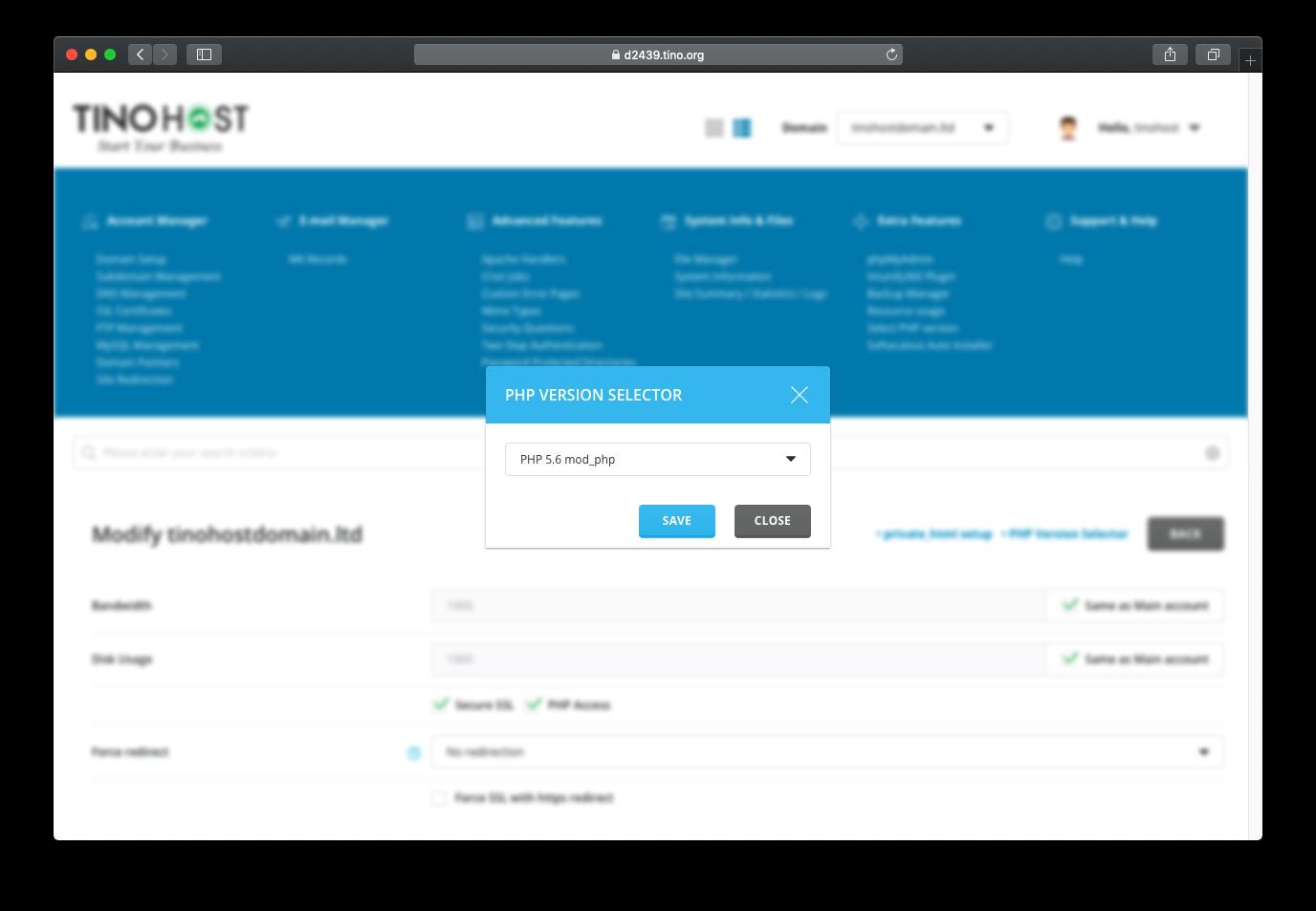 [DirectAdmin] - Hướng dẫn tùy chọn phiên bản PHP cho website trên Directadmin 13