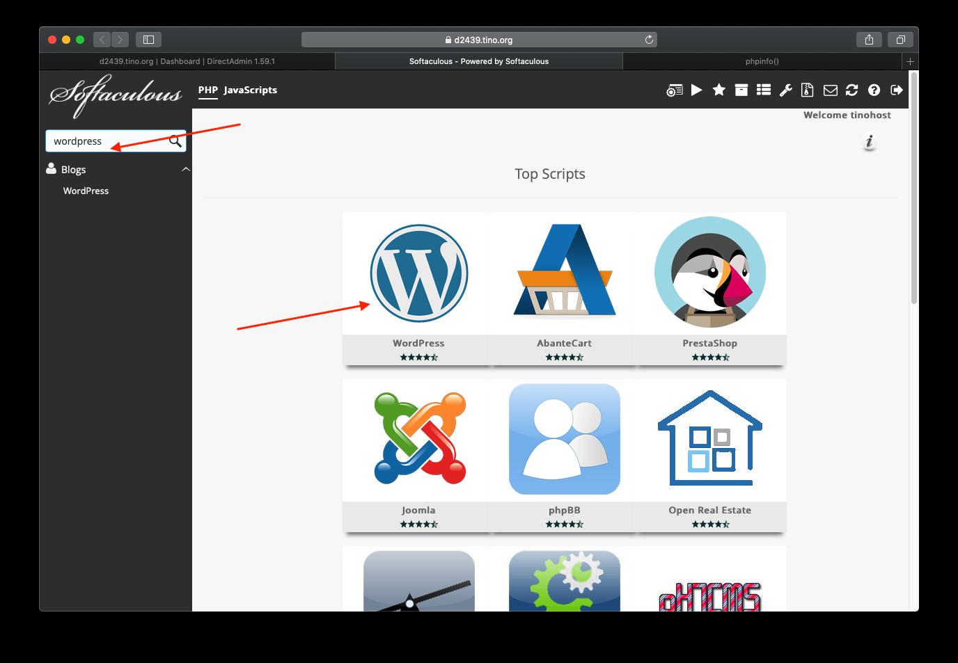 [DirectAdmin] - Hướng dẫn cài đặt Wordpress nhanh chóng trên hosting Directadmin 11