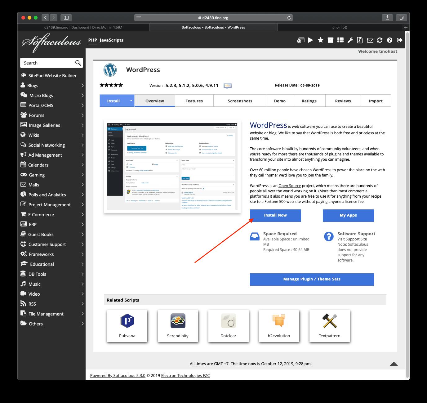 [DirectAdmin] - Hướng dẫn cài đặt Wordpress nhanh chóng trên hosting Directadmin 12