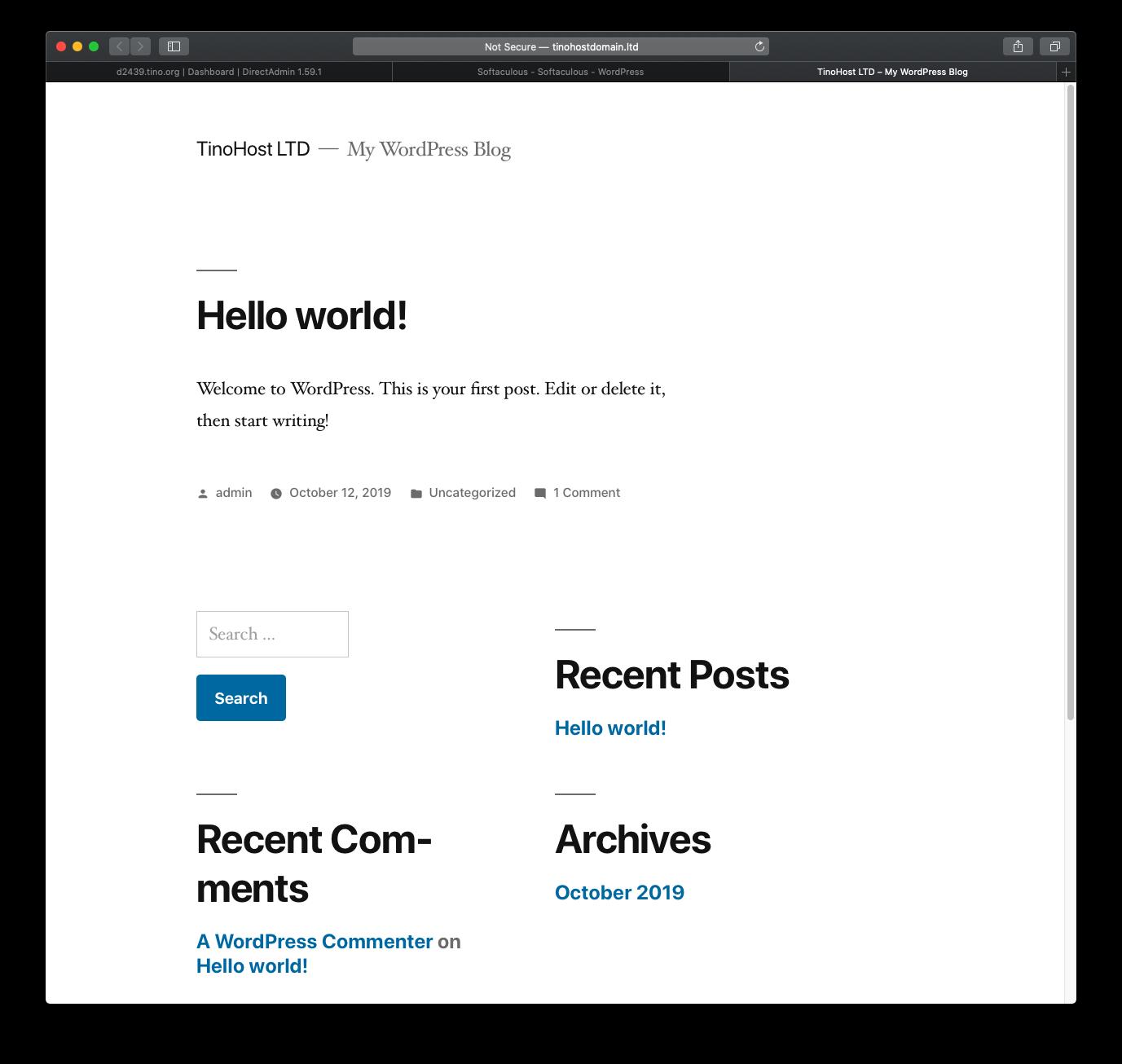 [DirectAdmin] - Hướng dẫn cài đặt Wordpress nhanh chóng trên hosting Directadmin 16