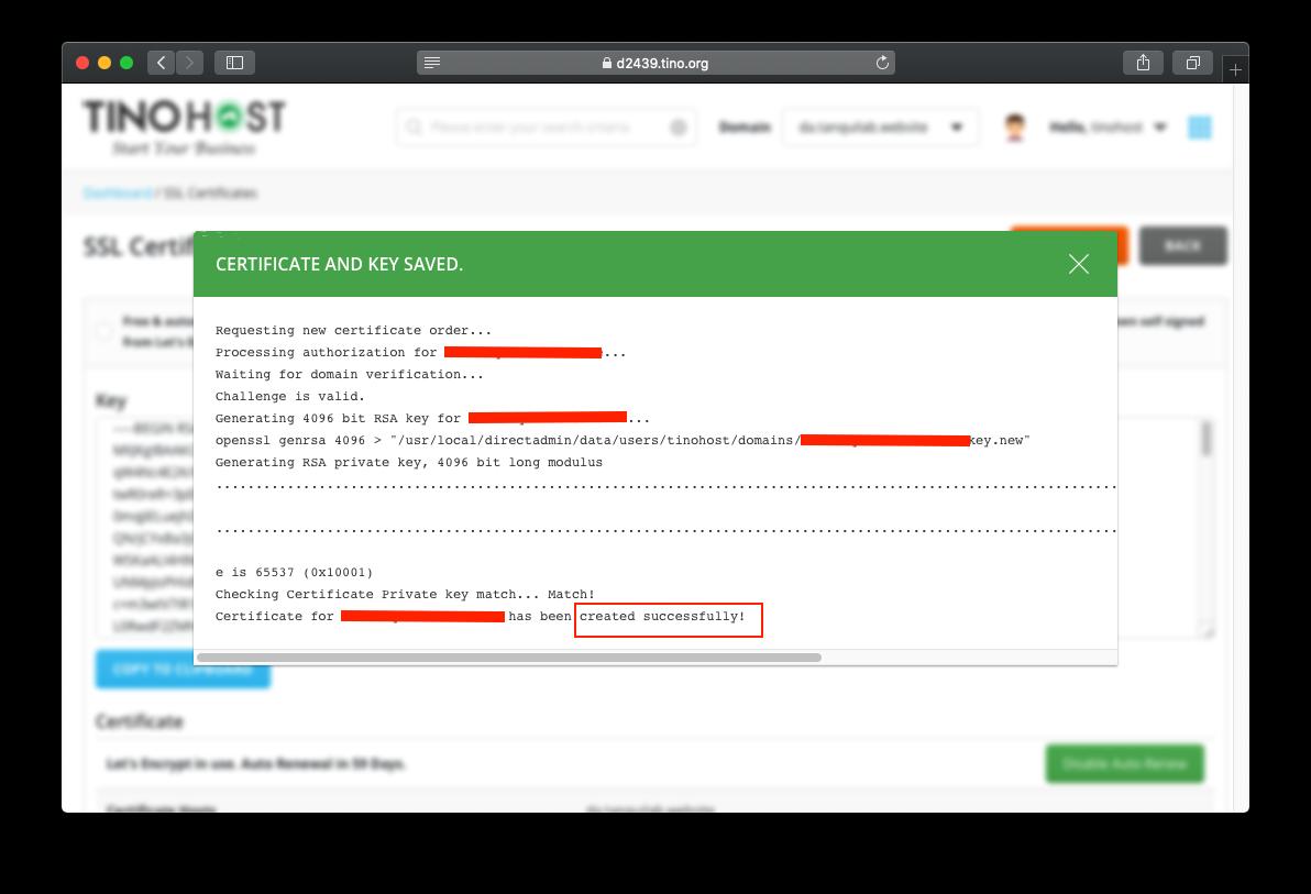 [DirectAdmin] - Hướng dẫn cài đặt SSL miễn phí trên hosting DirectAdmin 6