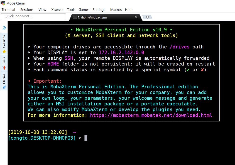 Hướng dẫn sử dụng MobaXterm để SSH vào server linux 16