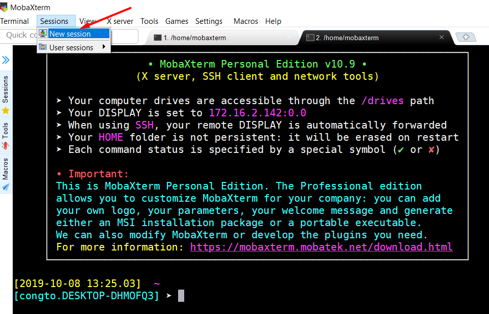 Hướng dẫn sử dụng MobaXterm để SSH vào server linux 17