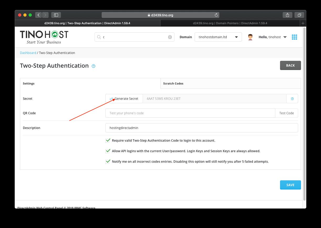 [DirectAdmin] - Hướng dẫn bật đăng nhập hosting DirectAdmin xác thực qua Google Authentication 11