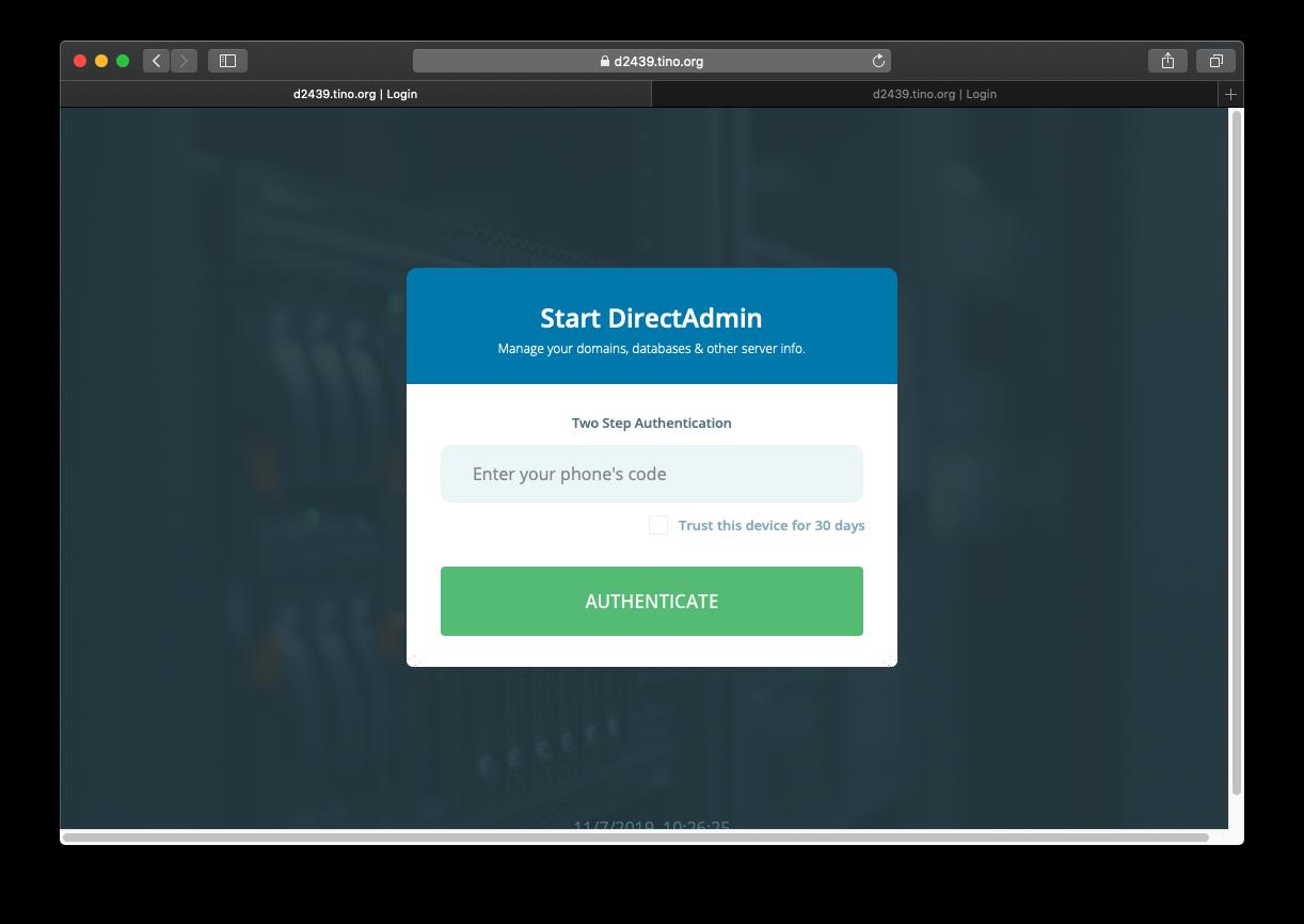 [DirectAdmin] - Hướng dẫn bật đăng nhập hosting DirectAdmin xác thực qua Google Authentication 18