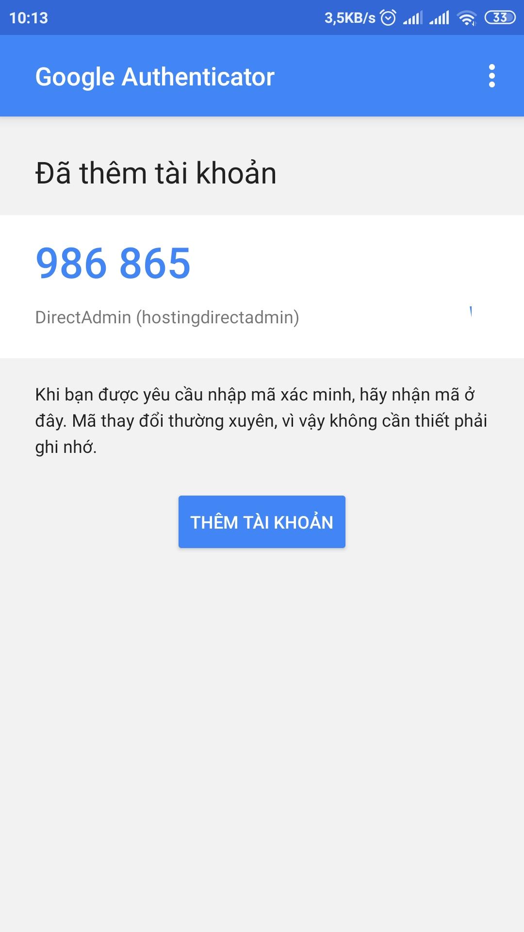 [DirectAdmin] - Hướng dẫn bật đăng nhập hosting DirectAdmin xác thực qua Google Authentication 15
