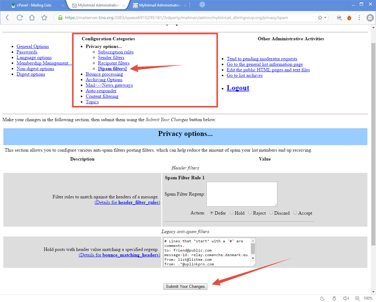 [cPanel] - Mailing Lists 19