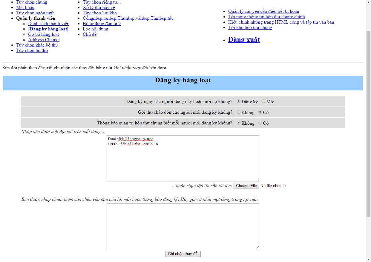 [cPanel] - Mailing Lists 25