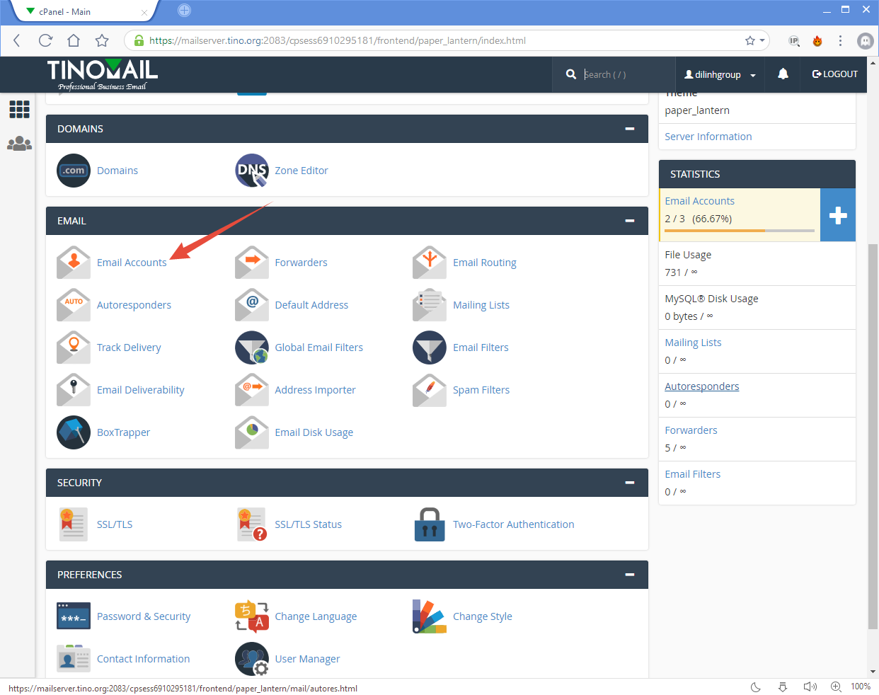 [cPanel] - Email Accounts 4