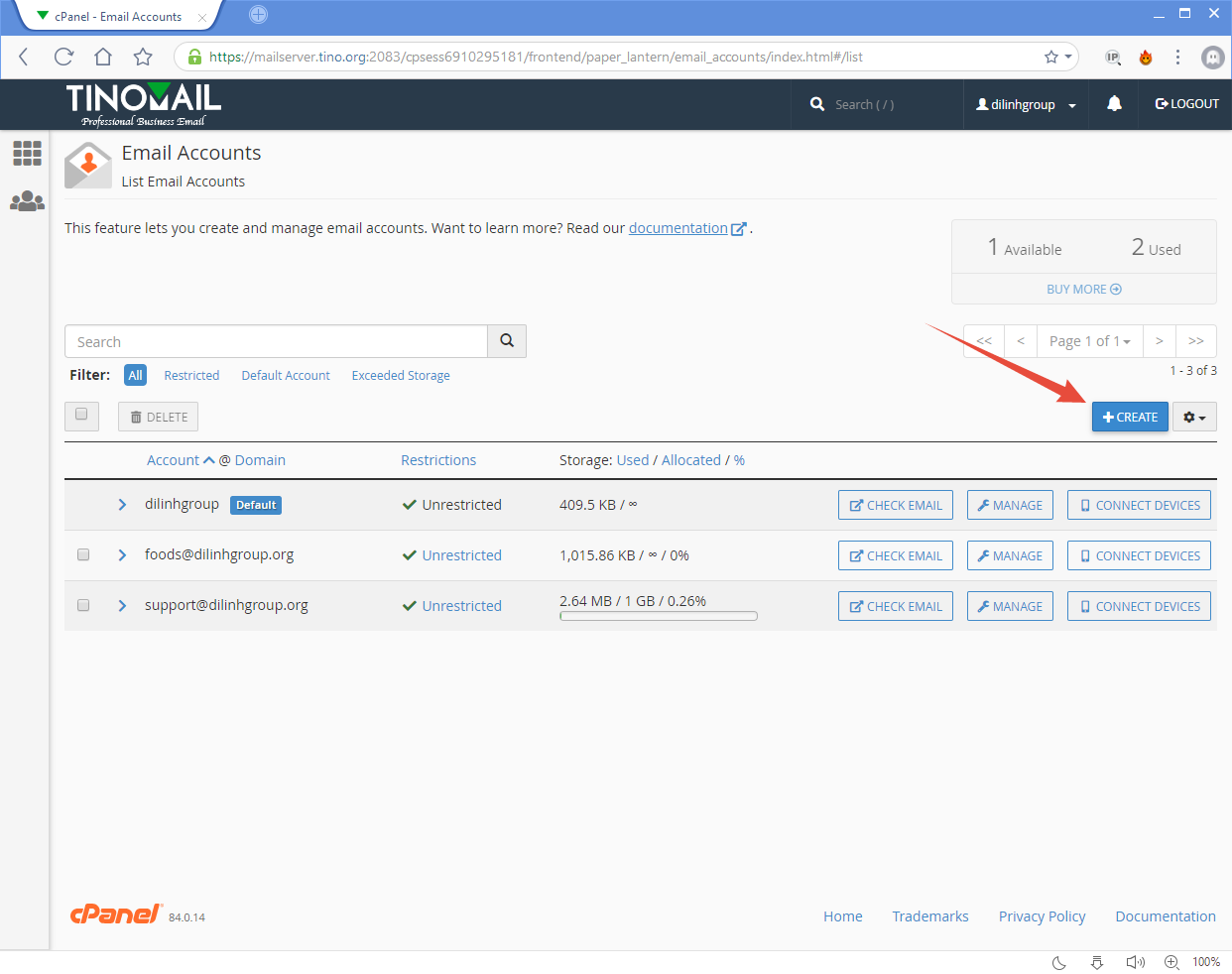 [cPanel] - Email Accounts 5