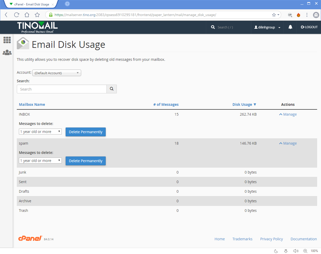[cPanel] - Email Disk Usage 4